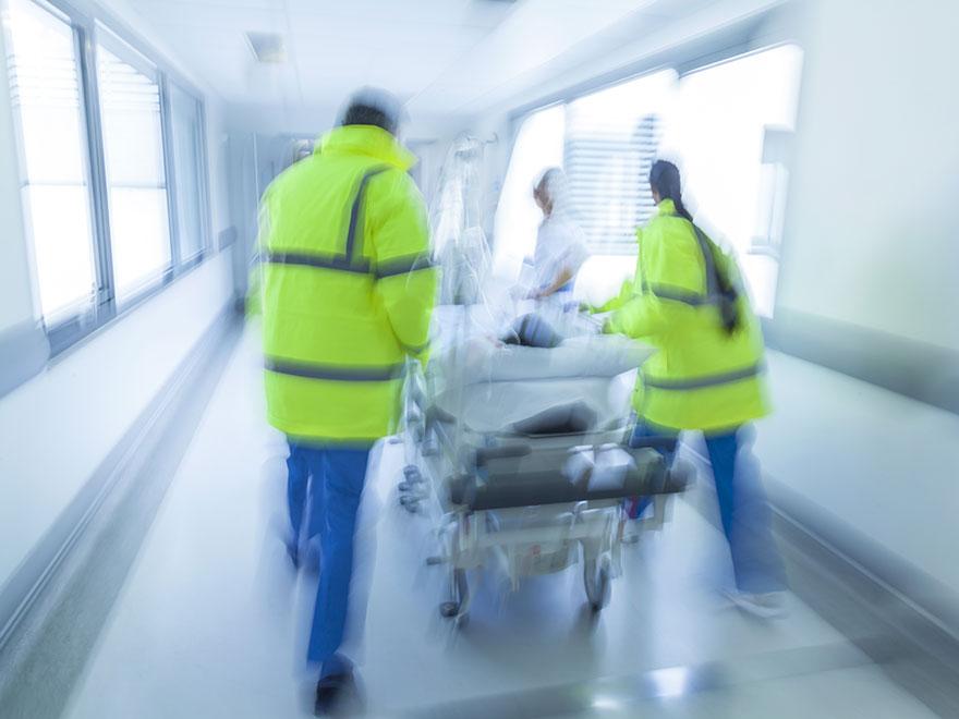 Notaufnahme mit Notfallpatient